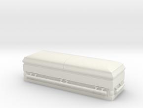 1:18 Scale Casket (Coffin) in White Natural Versatile Plastic
