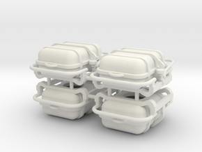 4X Offshore commander Life raft container 8 pers - in White Natural Versatile Plastic