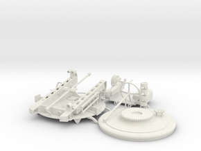 "1:36 scale mount for 8""/36 1885 Russian Naval gun in White Natural Versatile Plastic"