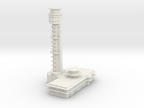 Pearl Harbor Ford Island Tower in White Natural Versatile Plastic: 1:500
