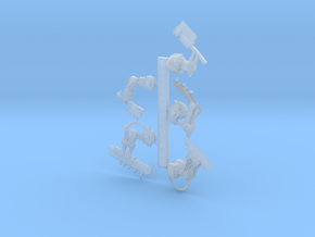 Space Orks Bionic Choppas Arms - Right in Smooth Fine Detail Plastic