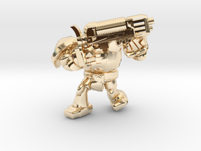 SPACEMARINER PLASMAGUN in 14k Gold Plated Brass