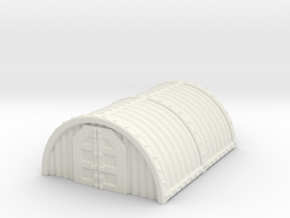 "Hangar / barracks 2.5"" tall in White Natural Versatile Plastic"