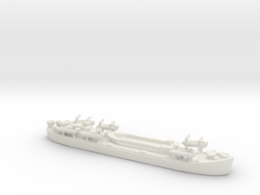 landing ship tank Mk 2 1/1800 3 in White Natural Versatile Plastic