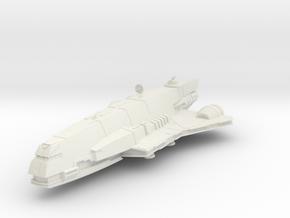 2500 Gozanti class frigate Star Wars in White Natural Versatile Plastic
