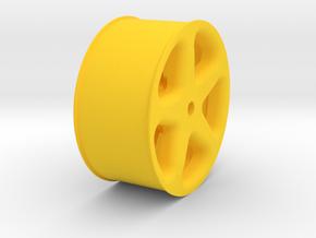 Sanwa MT-S Transmitter Wheel - Losi XX-cr in Yellow Processed Versatile Plastic