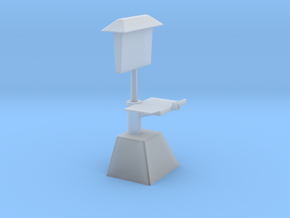 50's Era Drive-In Menu Stand in Smooth Fine Detail Plastic