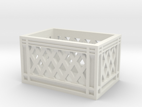 1:10 scale food crate in White Natural Versatile Plastic