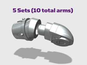 Chaos Marine - Adjustable Arms in Smooth Fine Detail Plastic: Small