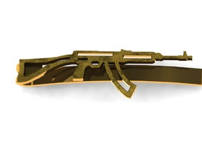 VZ-58 MONEY/TIECLIP in Polished Bronzed Silver Steel