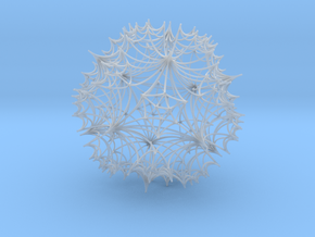 Hyperbolic Icosahedral Honeycomb  in Smooth Fine Detail Plastic
