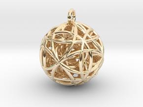 Dark Air Matter Pendant in 14k Gold Plated Brass