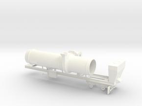 1/64th Asphalt Drum Batch Mixer Dryer trailer in White Processed Versatile Plastic