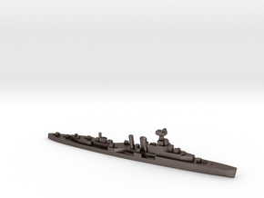HMS Coventry 1:1800 WW2 naval cruiser in Polished Bronzed-Silver Steel
