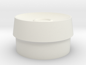 Deflector Dish Mod with Ring in White Natural Versatile Plastic