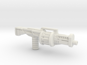 Earth Wars Grenade Launcher (5mm) in White Natural Versatile Plastic