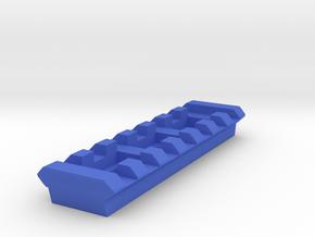 Side Picatinny Rail (7 Slots) for Nerf RevReaper in Blue Processed Versatile Plastic