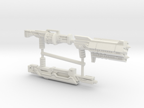 Earth Wars Weapon Set (3mm, 5mm) in White Natural Versatile Plastic: Medium