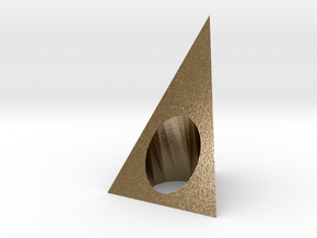 Pyramid 2 Ring in Polished Gold Steel