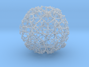 Hyperbolic Cubic Honeycomb in Smooth Fine Detail Plastic
