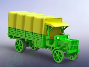 US WW I Liberty 3to Standard Truck w. Tarp 1/144 in Smooth Fine Detail Plastic