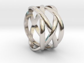 braided fashion ring in Platinum: 5 / 49