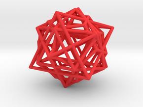 Metatron´s Cube in Red Processed Versatile Plastic