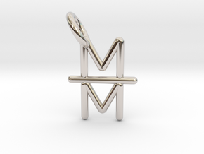 Mind over Matter Pendant in Rhodium Plated Brass