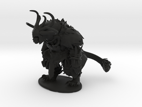 GW2 Charr Warrior in Black Natural Versatile Plastic