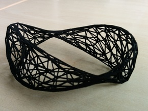 Mobius Wireframe in Black Natural Versatile Plastic