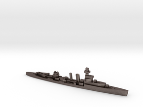 HMS Cardiff 1939 1:1800 WW2 cruiser in Polished Bronzed-Silver Steel