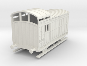 o-76-nlr-18-6-luggage-brake-coach in White Natural Versatile Plastic