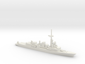 Georges Leygues-class frigate, 1/1250 in White Natural Versatile Plastic