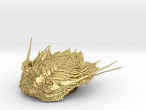 Trilobite - Kettneraspis prescheri in Natural Brass