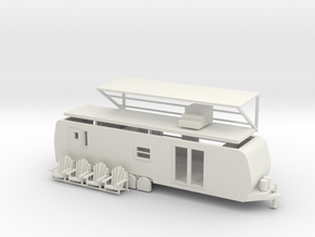 'HO Scale' - 38' Camp Trailer in White Natural Versatile Plastic