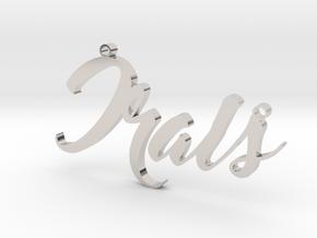Custom Necklace Irais in Rhodium Plated Brass