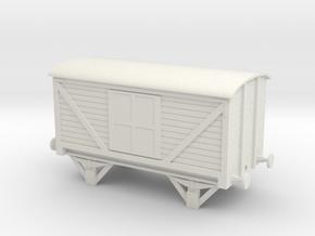 LNWR Van in White Natural Versatile Plastic