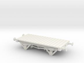 Small Flatcar in White Natural Versatile Plastic
