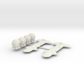 Terran (TFN) Cruiser Squadron (sprued) in White Natural Versatile Plastic