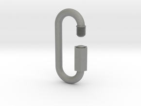 Carabiner / link of an infinite chain in Gray PA12