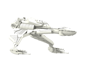 Bird Of Prey BattleCruiser  in White Strong & Flexible
