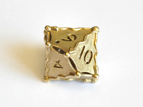 D10 Balanced - Snakes (Fancy Metals) in Natural Brass