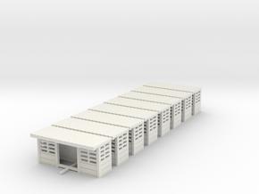 abris de quais beton SNCB  N in White Natural Versatile Plastic: 1:160 - N