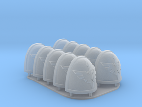 Deathwing Shoulderpads 10x 40k in Smooth Fine Detail Plastic