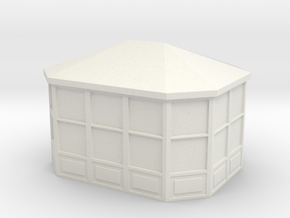 Gazebo 1/87 in White Natural Versatile Plastic