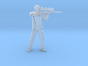 Hitman sniper 1/60 miniature for games and rpg in Smooth Fine Detail Plastic