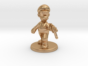 Luigi survivor 1/60 miniature for games and rpg in Natural Bronze