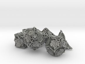 Botanical Dice Ornament Set in Gray PA12