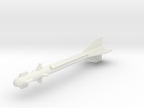 1:12 Miniature Molniya / Vympel R60 Missile in White Natural Versatile Plastic: 1:24