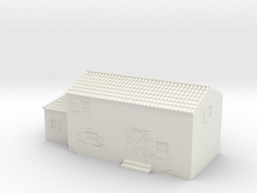 Italian style house 1/72 in White Natural Versatile Plastic